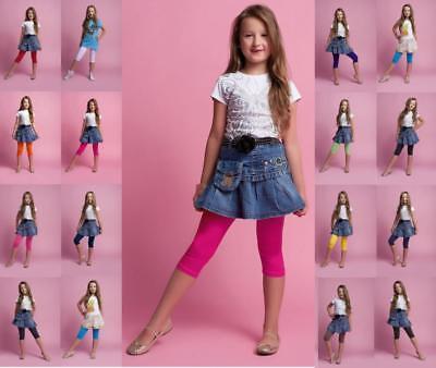 Dedavide Kinder 3/4-leggings, Unifarben, Viele Farben & Größen Preisnachlass