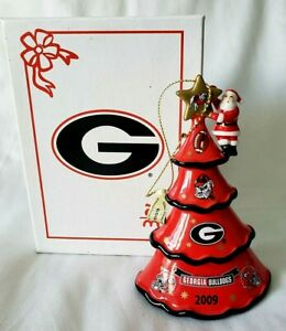 2009 Danbury Mint Georgia Bulldogs Uga Christmas Tree Ornament Nib New Ebay