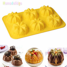 6 Cavity Mini Cake Muffin Silicone Mold Chocolate Baking Pan Mould Bakeware Tray