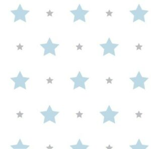 Image Is Loading Blue Grey Stars Nursery Childrens Kids Baby Boys