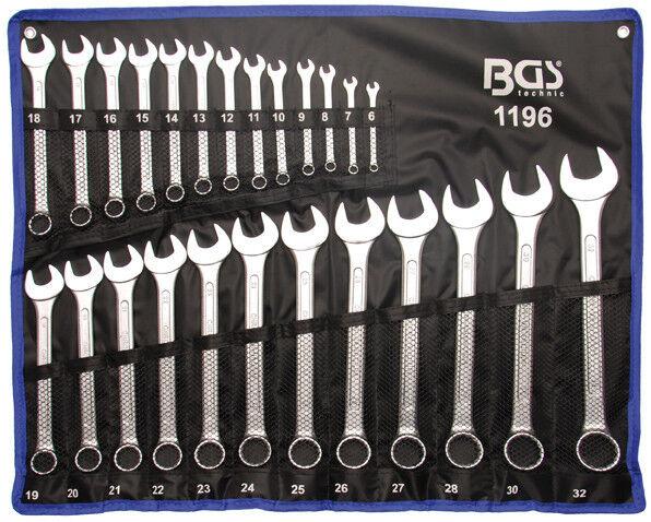 BGS1196 Maulringschlüssel-Satz 25-tlg. 6-32mm gehärtet +Rolltasche