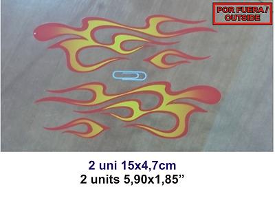 Adhesivo Pegatina Sticker Decal Aufkleber Autocollant Vinilo Flaming Llamas Superiore (In) Qualità