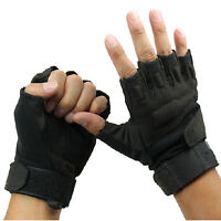Outdoor Sport Fingerless Military Tactical Airsoft Hunting Riding Game Glove D89