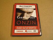DVD / BERT GABRIELS - GESTORVEN ONZIN ( STAND-UP COMEDY SHOW )