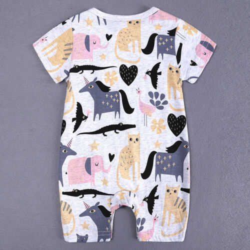 Summer Newborn Baby Boy Girl Romper Bodysuit Jumpsuit Sunsuit Outfits Clothes UK