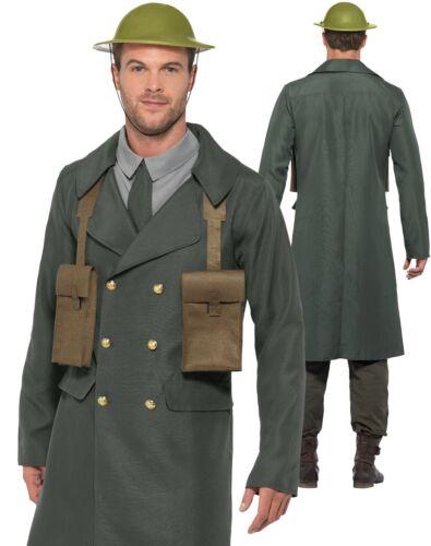 WW2 Raid aérien gardien costume adulte uniforme homme seconde guerre mondiale Déguisement Officier