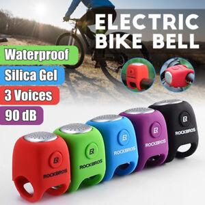 ROCKBROS-Elettrico-Campana-Bicicletta-Corno-Allarme-Manubrio-Per-MTB-BMX-Bici