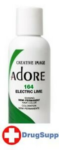 BL Adore Semi-Permanent Haircolor #164 Electric Lime 4 oz - THREE PACK
