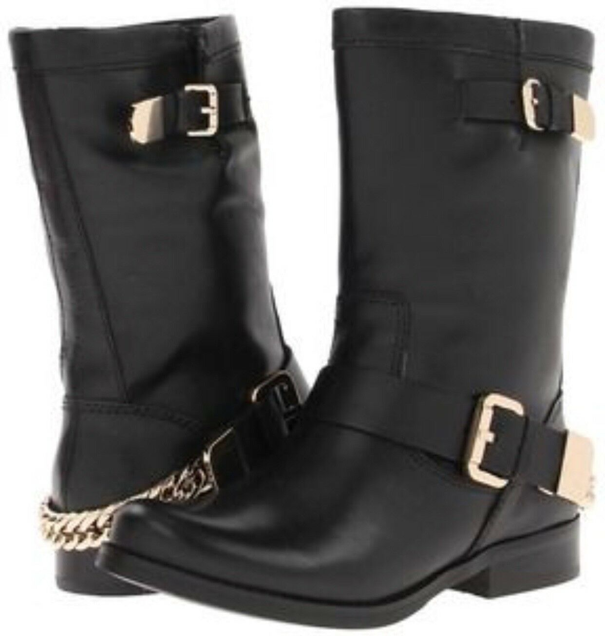 GUESS girton casual boots with chain size 7.5