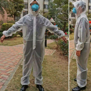 Reusable Washable Coverall Boiler Hood Painters Protective Overalls Suit Pro