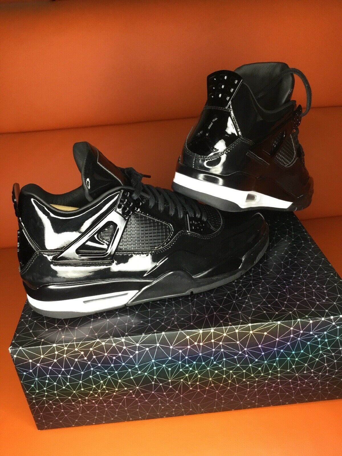 NIKE AIR Jordan 11Lab4 Black Patent  Leather DS Receipt SZ 10.5 Retail  250