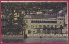 BERGAMO LOVERE 30 HOTEL ALBERGO RISTORANTE Cartolina
