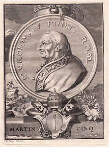 Portrait-XVIIIe-Martin-V-Pape-Oddone-Colonna-Papa-Martino-V-Marcin-V-V