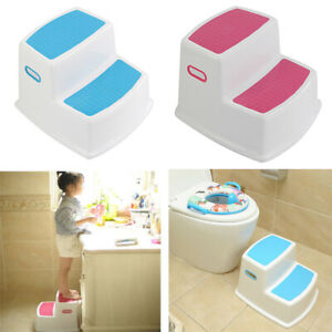 Cool Details About 2 Step Stool Kids Toddler Stool For Toilet Potty Training For Bathroom Kitchen Dailytribune Chair Design For Home Dailytribuneorg