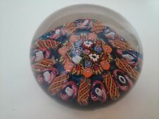 Paul Ysart 1930s Monart Period Closepack Art Glass Paperweight