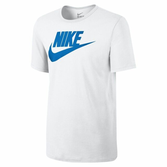 Nike T-shirt Mens Big Tick Swoosh Running Gym Retro Fashion XL White ... b4b0cdc2a