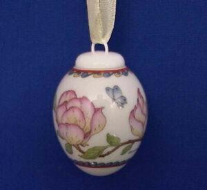 Magnolie - Magnolia Mini Egg Ornament - Hand-Crafted Hutschenreuther Porcelain