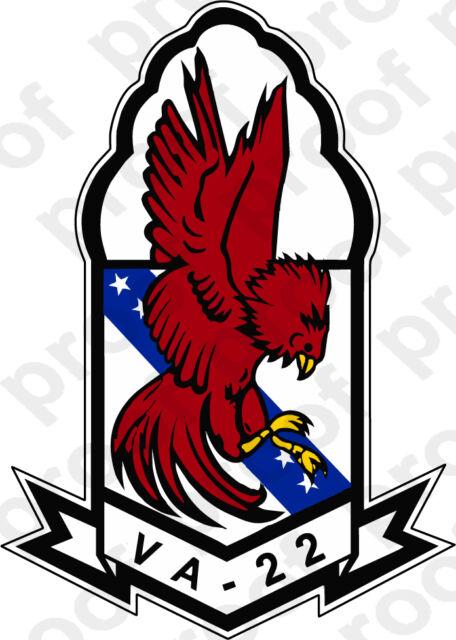 STICKER USN VA  22 Fighting Redcocks