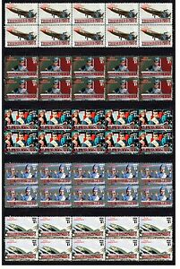 THE-THUNDERBIRDS-SET-OF-5-MINT-TV-STAMP-STRIPS