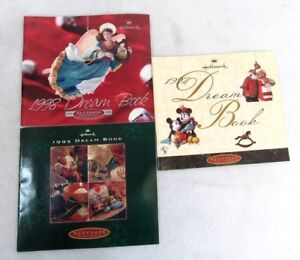 Lot of 3 Hallmark 1995 1996 1998 Dream Book Catalogs 3H