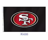 Nfl San Francisco 49ers 3'x5' Flag -black Color