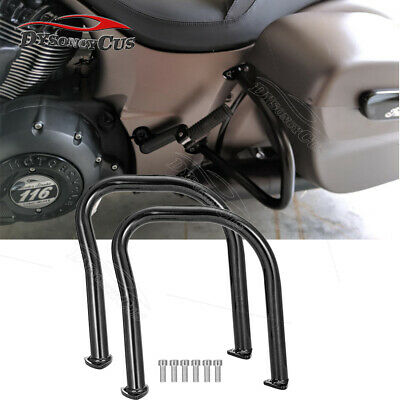 Fit 2014-UP Indian Chief Chieftain Matte Black Rear Highway Saddlebag Guard Bars