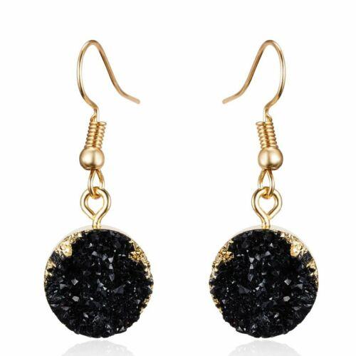 Chic Women Geometrical Natural Rhinestone Earrings Ear Stud Dangle Hook Drop Hot