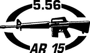 5.56 AR 15 gun Rifle Ammunition Bullet exterior oval decal sticker car wall