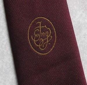 2019 DernièRe Conception Vintage Cravate Homme Cravate Crested Club Association Société Bourgogne-afficher Le Titre D'origine Ventes Pas ChèRes 50%