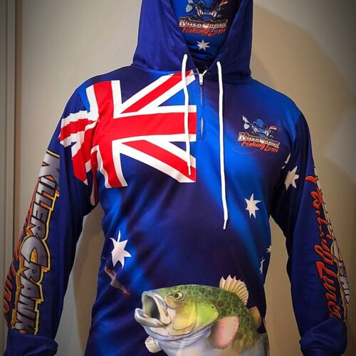 New Aussie Killer Crank Murray Cod Fishing Shirt All Kids & Adult Sizes