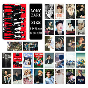 30pcs-set-Cute-Kpop-IKON-all-members-Photo-Picture-Poster-Lomo-Cards