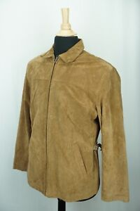 Polo Ralph Lauren Brown Suede Side Buckle Leather Jacket Sz S