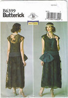 20s Flapper Dropped Waist Dress Bow Detail Costume Sewing Pattern 14 16 18 20 22