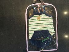 NWT Juicy Couture New & Genuine Dogs Striped Sailor Dress Size Medium With Logo