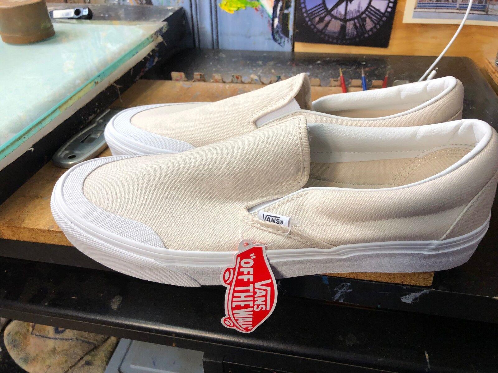 7ae634f50f797e Vans CLASSIC SLIP-ON SLIP-ON SLIP-ON (CANVAS) MOONBEAM Toe Cap Size ...