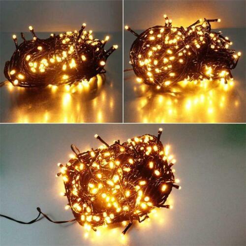 Lichterkette mit 180//240//300 LED IP44 für Außen /& Innen Batterie Lichtkette LEDs