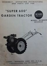 David Bradley Super 600 Db Sears 917575144 Garden Tractor Owners Amp Parts Manual