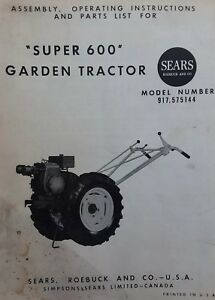 Details About David Bradley Sears 917 575144 Garden Tractor Plow Owners Parts 2 Manuals