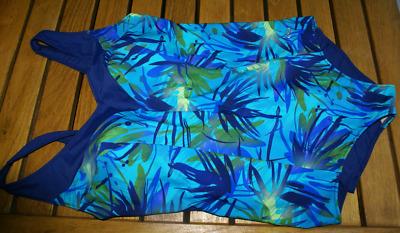 VOLCOM Wallflower florales Damen Bikini-Höschen mit Bändchen Badehose Blau