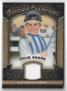 2014-UD-GOODWIN-CHAMPIONS-JULIE-KRONE-RELIC-JERSEY-CARD-HORSE-RACING-JOCKEY