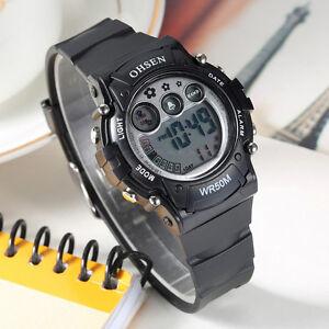 OHSEN-Teen-Kid-Digital-G-Sport-12-24-Hour-Alarm-Quartz-Watch-Proof-Shock-Black