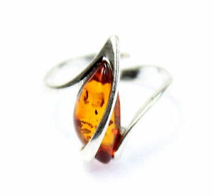 Lovely-Baltic-Amber-amp-925-Sterling-Silver-Designer-Ring-GL402A2