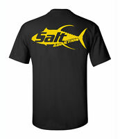 Salt Addiction Yellow Fin Fishing T Shirt,saltwater Fishing Permit Tuna Ocean
