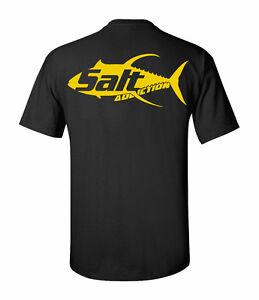 Salt addiction yellow fin fishing t shirt saltwater for Saltwater fishing apparel