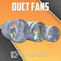 4 6 8 Inch Inline Duct Fan Exhaust Booster Blower Light Hood Room Tent Vent