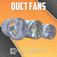 4 6 8 Inch Inline Duct Fan Exhaust Booster Blower Light Hood Room Tent Vent