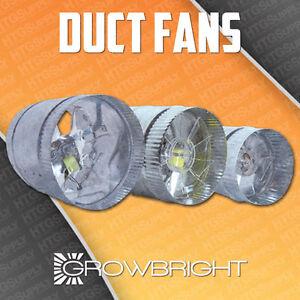 4 Quot 6 Quot 8 Quot Inch Inline Duct Fan Exhaust Booster Blower Light