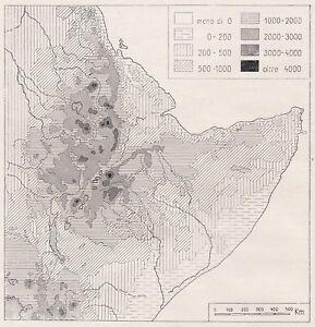 Cartina Italia Anno 500.D3447 Schema Altimetrico Dell Africa Italiana Mappa D Epoca 1940 Vintage Map Ebay