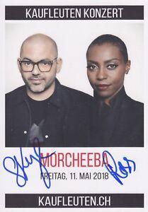 MORCHEEBA-Werbe-AUTOGRAMMKARTE-original-signiert-IN-PERSON-Autogramm-RAR
