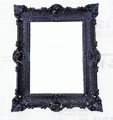 Espejos Espejo De Pared Negro Antiguo Barroco Reproducción Baño Decoración 56x46 2